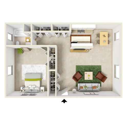 pennwood one bedroom one bath floor plan