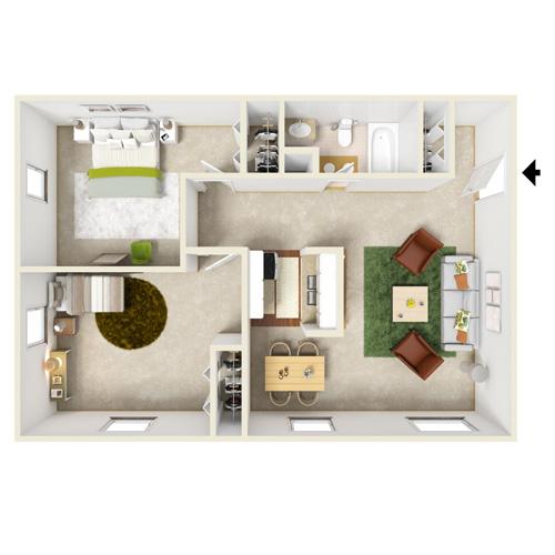 pennwood two bedroom one bath floor plan